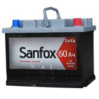 Аккумуляторная батарея SANFOX 6ст-60 (п.п.) 480А 242*175*190 РФ